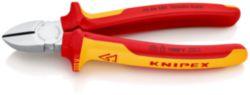 KNIPEX 70 06 180 Zijsnijtang geïsoleerd met meer-componentengrepen, VDE-getest verchroomd 180 mm