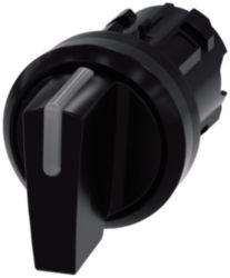 Toggle switch illuminable, 22 mm, round, plastic, black, knob short