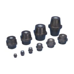 ISO-TP Low Voltage Insulators, Metric Thread, 30 mm, 30 mm Hex Width,
