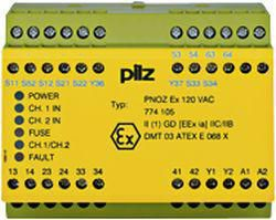 Device for monitoring of safety-related circuits Pilz PNOZ EX 120VAC 3N/O 1N/C 774105