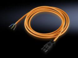 Anschlussleitung für Einspeisung (mit Buchse, ohne Stecker), L 3000 mm, orange