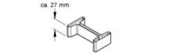 Schutzkappe, zur Abdeckung d. Profilenden für I 80/..., HI 80/..., STI, Kunststoff, Polyethylen, Farbe gelb, RAL1021