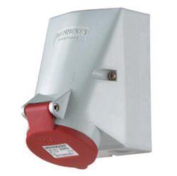 Wall mounted recept., 16A5p6h400V, IP44