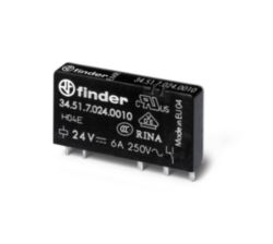 Relay 1CO 6A  24VDC