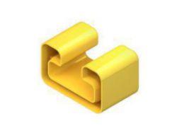 Schutzkappe, zur Abdeckung der Profilenden für C-Schiene 2986, Kunststoff, Polyethylen, Farbe gelb, RAL1021