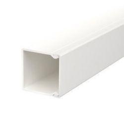 Wand- und Deckenkanal mit Bodenlochung 40x40x2000, PVC, reinweiß, RAL 9010