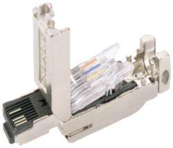 IE FC RJ45Plug180, RJ45 plug with FC connection system, 180°, 1 unit