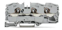 3-conductor through terminal block