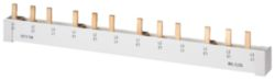 Pin busbar touch-safe, 16 mm2 3-phase, 1016 mm long can be cut, withou