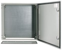Wall enclosure, +mounting plate, HxWxD=600x600x250mm