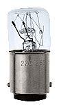 Incandescent lamp, 5 W, base BA 15 D, 24 V acc. for signaling columns