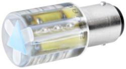 Signaling columns, acc. LED 230 V AC, BA 15D, red