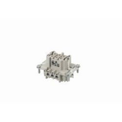 Ind. Connector, 6 Pin + PE Socket insert