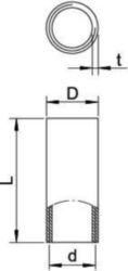 Coupler for installation tubes OBO SVM16W ALU 2046052
