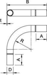 Bend for installation tubes OBO SB63W ALU 2046018