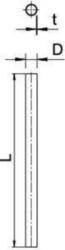 Metal installation tube OBO S25 W G 2046842