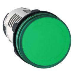 Leuchtmelder, rund Ø 22, grün, Integral LED, 230V, Schraubklemmen