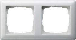 Abdeckrahmen 2f Standard 55 Reinweiß