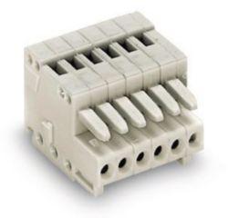 Female plug codable 5P, light gray