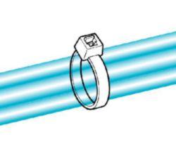 Kabelbinder 150x4,6 mm, UV-witterungsstabil, schwarz
