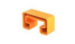 Schutzkappe gespritzt zu Schiene MS 21 41x21, PE, pastellorange, RAL 2003