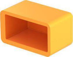 Schutzkappe für Profilschiene 38,6x21,6x16, PE, pastellorange, RAL 2003