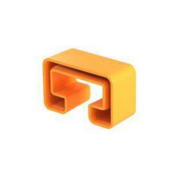 Schutzkappe für Profilschiene MS5030 55x25mm, PE, pastellorange, RAL 2003