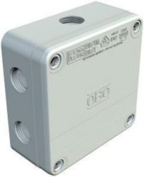 Junction box 110x110x50, PP, Light grey, 7035