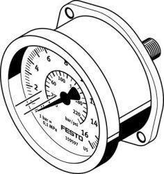 FLANGED PRESSURE GAUGE Festo FMA-40-10-1/4-EN