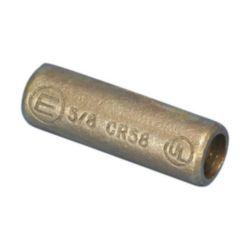 Threaded Coupler for Copper-Bonded Ground Rod, Threaded, Bronze