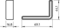 End cap/cover for support/profile rail OBO WPK SR OR 6372881