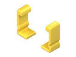 Schutzkappenpaar, zur Abdeckung d. Kabelleiterenden mit Höhe 60 mm, Kunststoff, Polyethylen, Farbe gelb