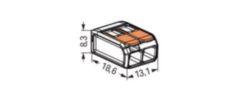 LASKLEM 2X 0,08-2,5/4MM² DOORZ CAGECLAMP