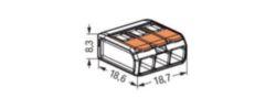 LASKLEM 3X0,08-2,5/4MM² DOORZ CAGECLAMP