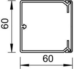 Installation duct OBO WDK60060GR 6025668