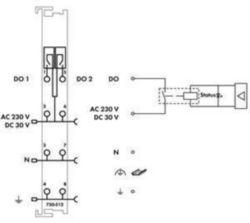 Fieldbus, decentr. periphery - digital I/O module Wago 750-512 750-512