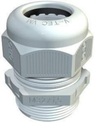 Cable gland fully metric M16, PA, Light grey, 7035