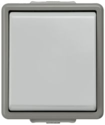 DELTA flaeche IP44, AP Dark gray/light gray button, 10A 250V, 1 change