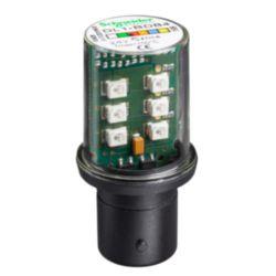 LAMPARA DE LED BA 15D 24 V ROJO