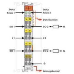 Fieldbus, decentr. periphery - digital I/O module Wago 750-514 750-514
