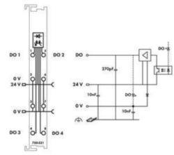 Fieldbus, decentr. periphery - digital I/O module Wago 750-531 750-531