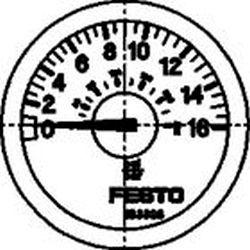 PRESSURE GAUGE Festo MA-23-16-R1/8