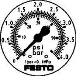 FLANGED PRECISION PRESSURE GAUGE Festo FMAP-63-4-1/4-EN