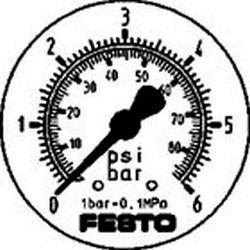 FLANGED PRECISION PRESSURE GAUGE Festo FMAP-63-6-1/4-EN