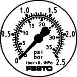 FLANGED PRESSURE GAUGE Festo FMA-50-2.5-1/4-EN