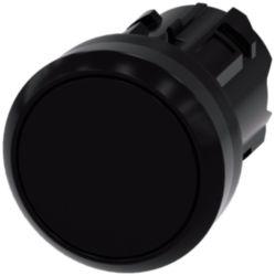 Pushbutton, 22 mm, round, plastic, black, button