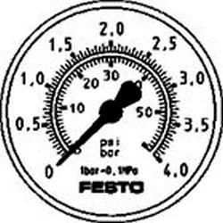 FLANGED PRECISION GAUGE Festo MAP-40-4-1/8-EN