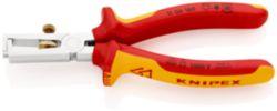 KNIPEX 11 06 160 Afstriptang met openingsveer, universeel geïsoleerd met meer-componentengrepen, VDE-getest verchroomd 160 mm