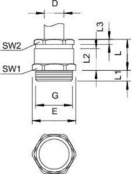 Cable screw gland OBO 163 MS PG42 2082411