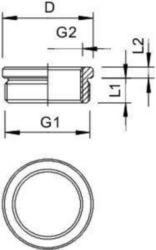 Enlargement/reducing ring OBO 167 R MS PG16-11 2089173
